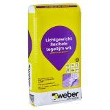 lichtgewicht flexibele tegellijm wit weber col lc 220 wit