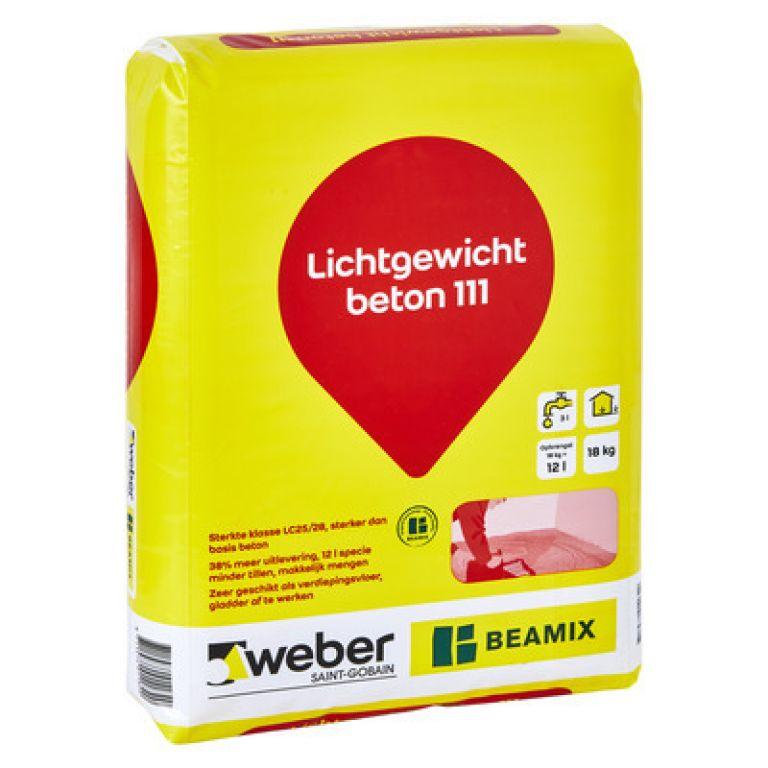 weber Beamix lichtgewicht beton 111