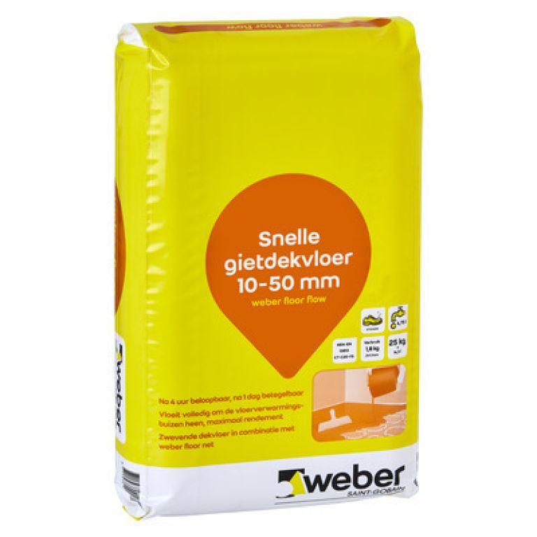 snelle gietdekvloer 10-50mm weber floor flow