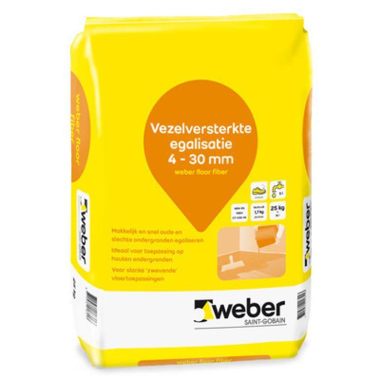 vezelversterkte egalisatie 4 - 30 mm weber floor fiber