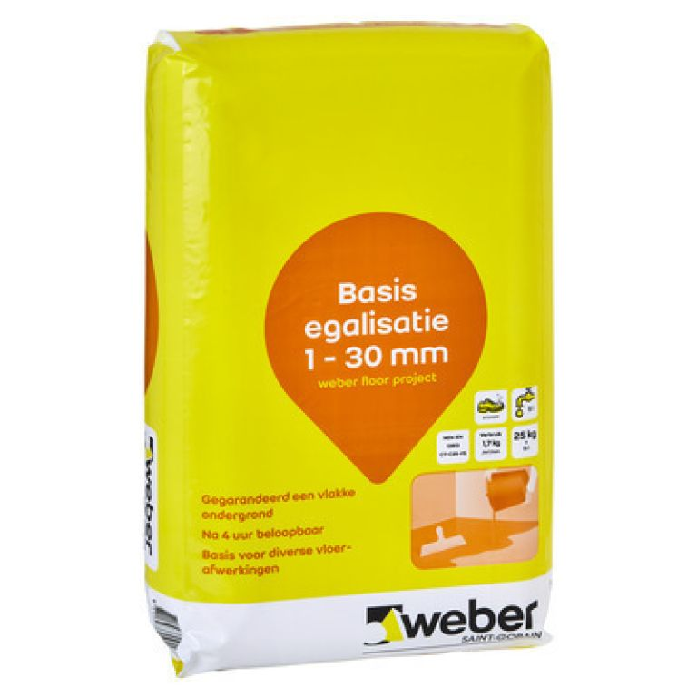 basis egalisatie 1 - 30 mm weber floor project