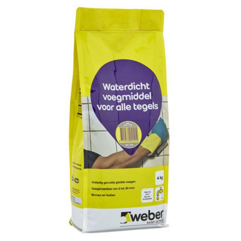 weber waterdicht voegmiddel voor alle tegels finish weberfinish