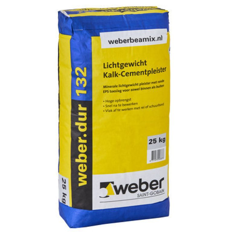 weber.dur 132 lichtgewicht kalk-cementpleister weberdur