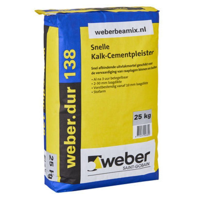 weberdur 138 snelle kalk-cementpleister weber.dur