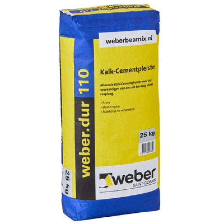 weber.dur 110 kalk-cementpleister 25 kg